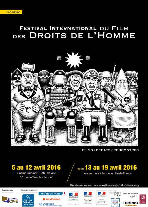 Affiche du Festival International du Film des Droits de l'Homme