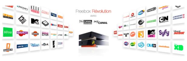 CANALSAT inclus dans l'offre Freebox Révolution