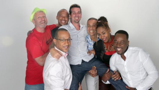 © Guyane 1ère. De gauche à droite: Steve Elina, Yves Shimbowitz, Loïc Francourt, Benjamin Lalou, Fabien Sublet, Vanessa Leys, Pascal Chaudri