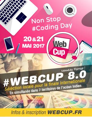 WebCup 2017: 8ème édition, les 20 et 21 mai prochain !