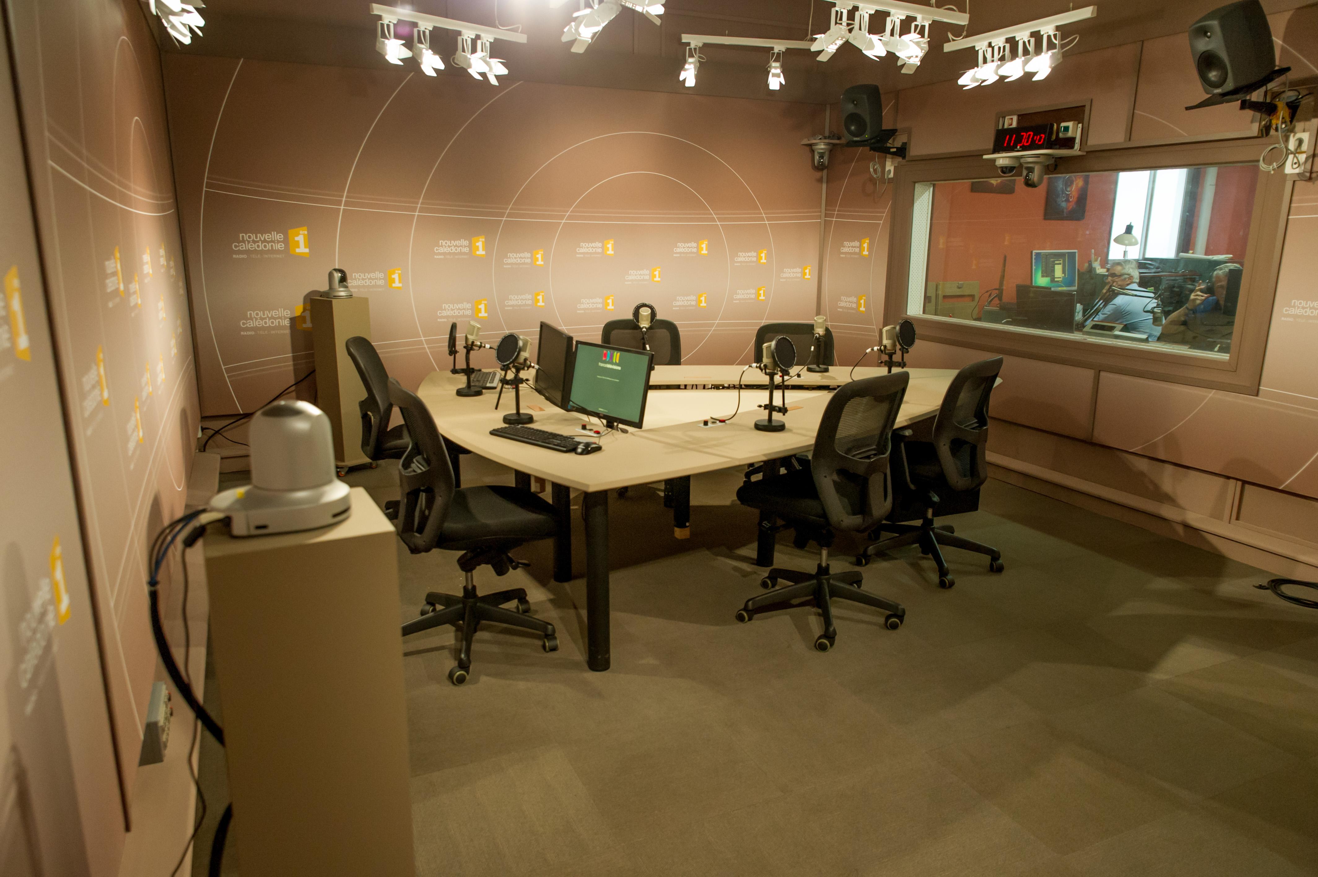 Le studio radio Nouvelle-Calédonie 1ère en 2017