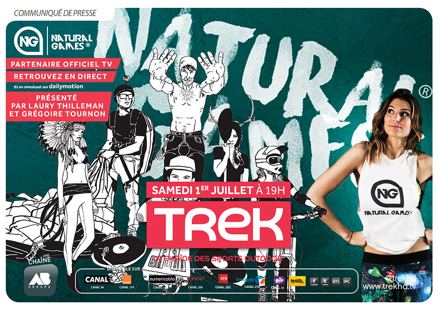 Laury Thilleman et Grégoire Tournon présentent la 10e édition des Natural Games le 1er juillet sur TREK