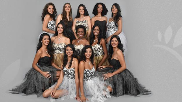 Les 12 candidates à l'élection Miss Réunion 2017
