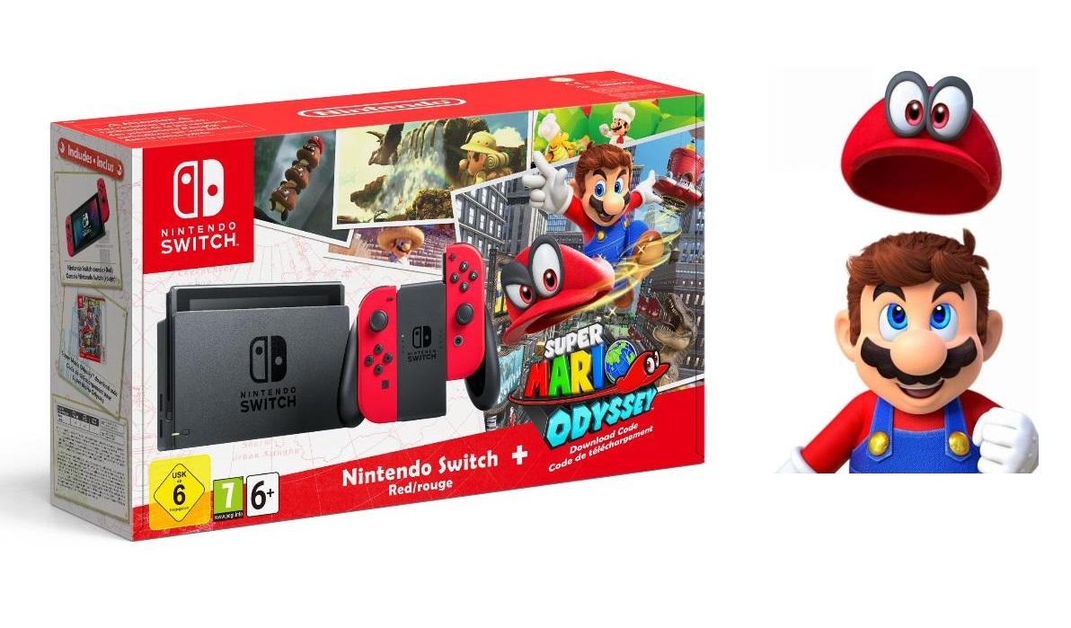 Pack Nintendo Switch + Super Mario Odyssey