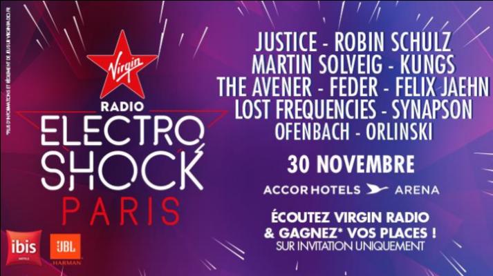 La soirée ÉlectroShock en direct et en exclusivité sur Virgin Radio TV