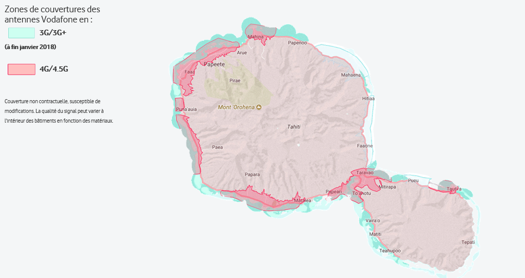 Vodafone lance la 4.5G en Polynésie