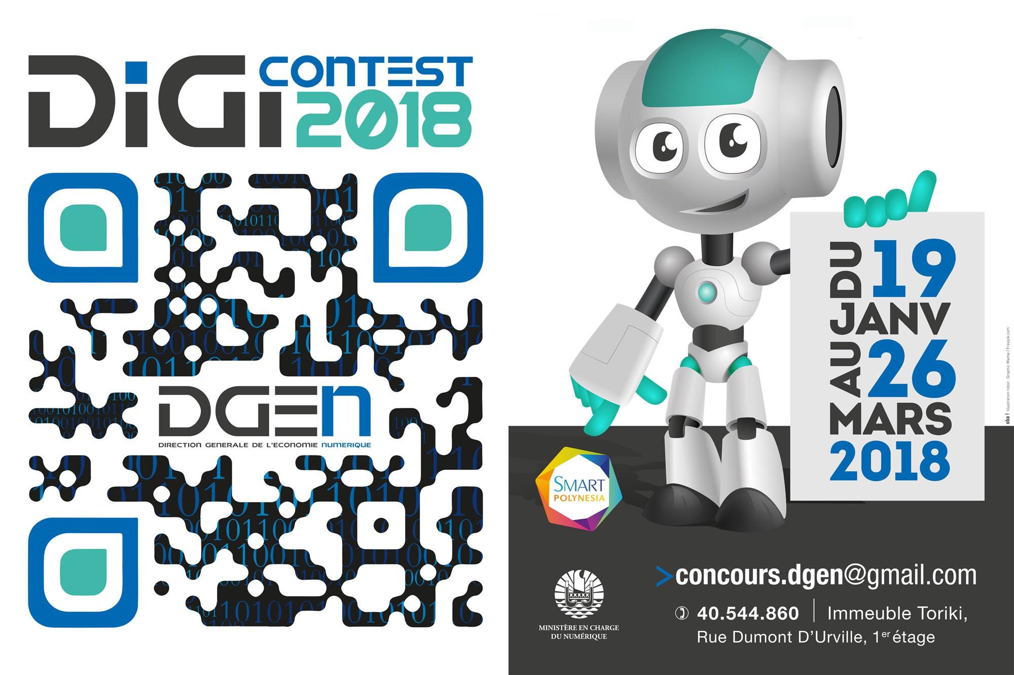Polynésie: Troisième édition du concours de l'innovation numérique « Digi Contest 2018 »