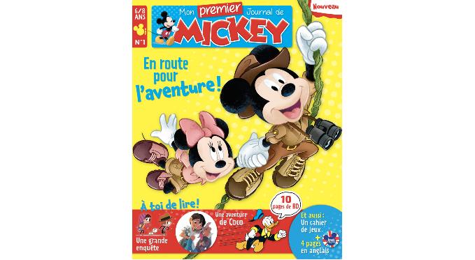 Disney Hachette Presse lance un nouveau magazine jeunesse pour les 6-8 ans, Mon Premier Journal de Mickey