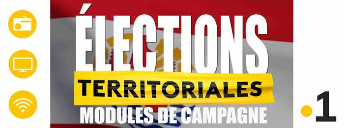 Élections Territoriales 2018: Les modules de campagne en exclusivité sur les antennes de Polynésie La 1ère