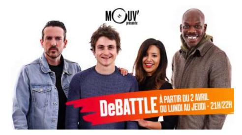 Mouv' lance DeBATTLE, l'émission qui donne la parole à la jeunesse
