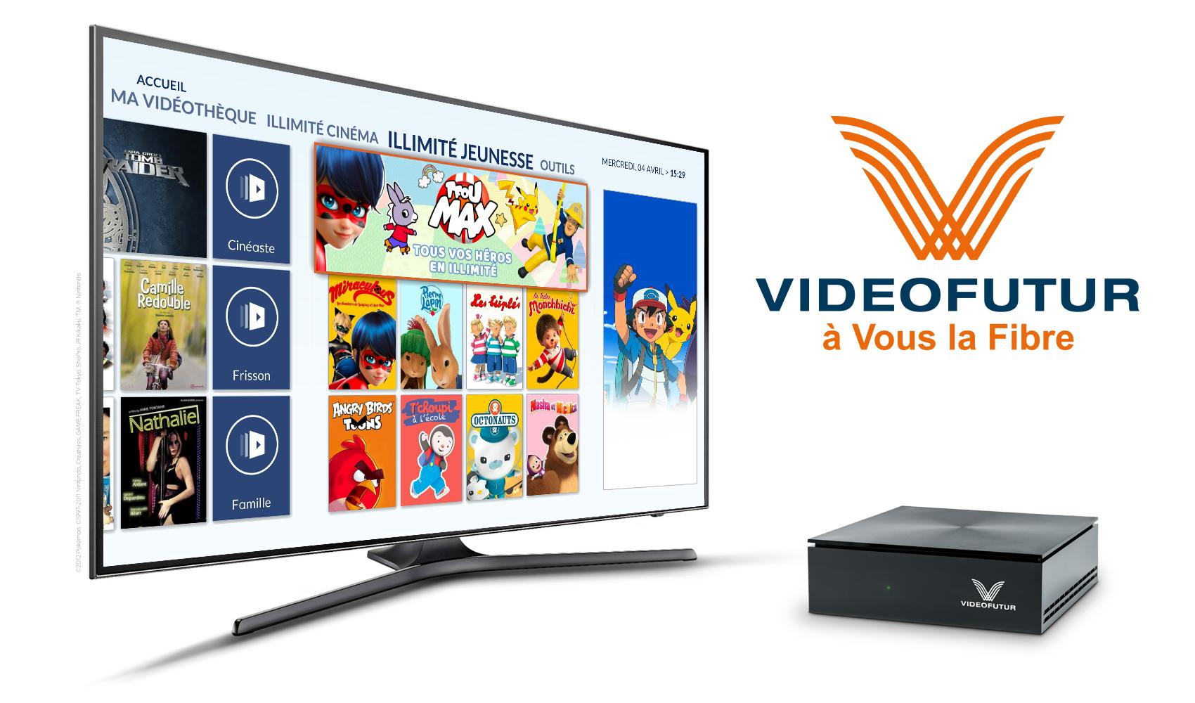 TFOU MAX inclus dans l'offre Fibre de Videofutur