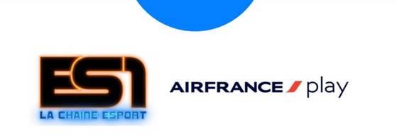 ES1, la chaîne eSport, arrive sur Air France Play, l'application de divertissement d'Air France
