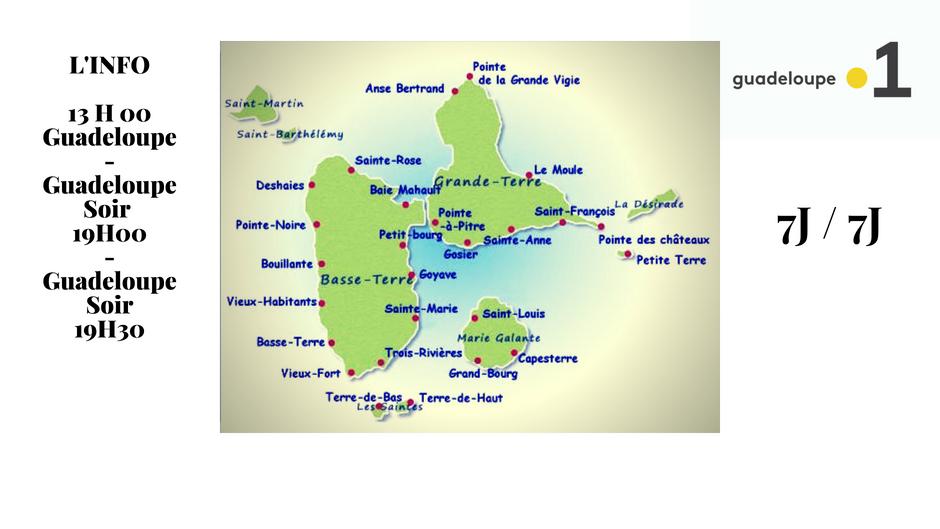Nouvelle appellation et nouveaux présentateurs pour les JT de Guadeloupe la 1ère