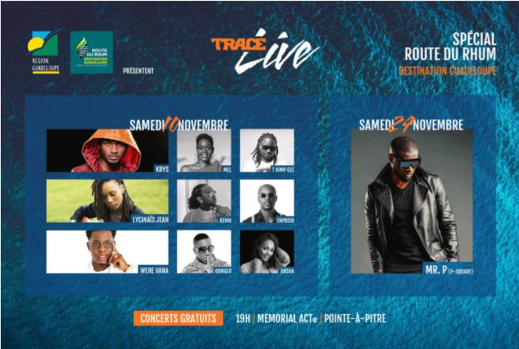 Trace présente 2 concerts TRACE Live special route du Rhum - Destination Guadeloupe