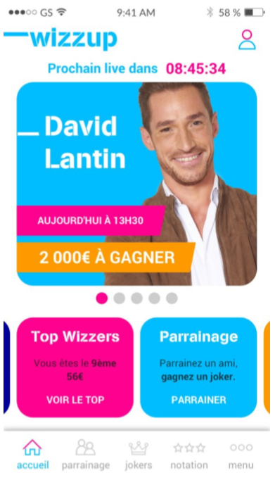 Lancement de Wizzup, l'application de Quiz sur Mobile gratuite du groupe M6