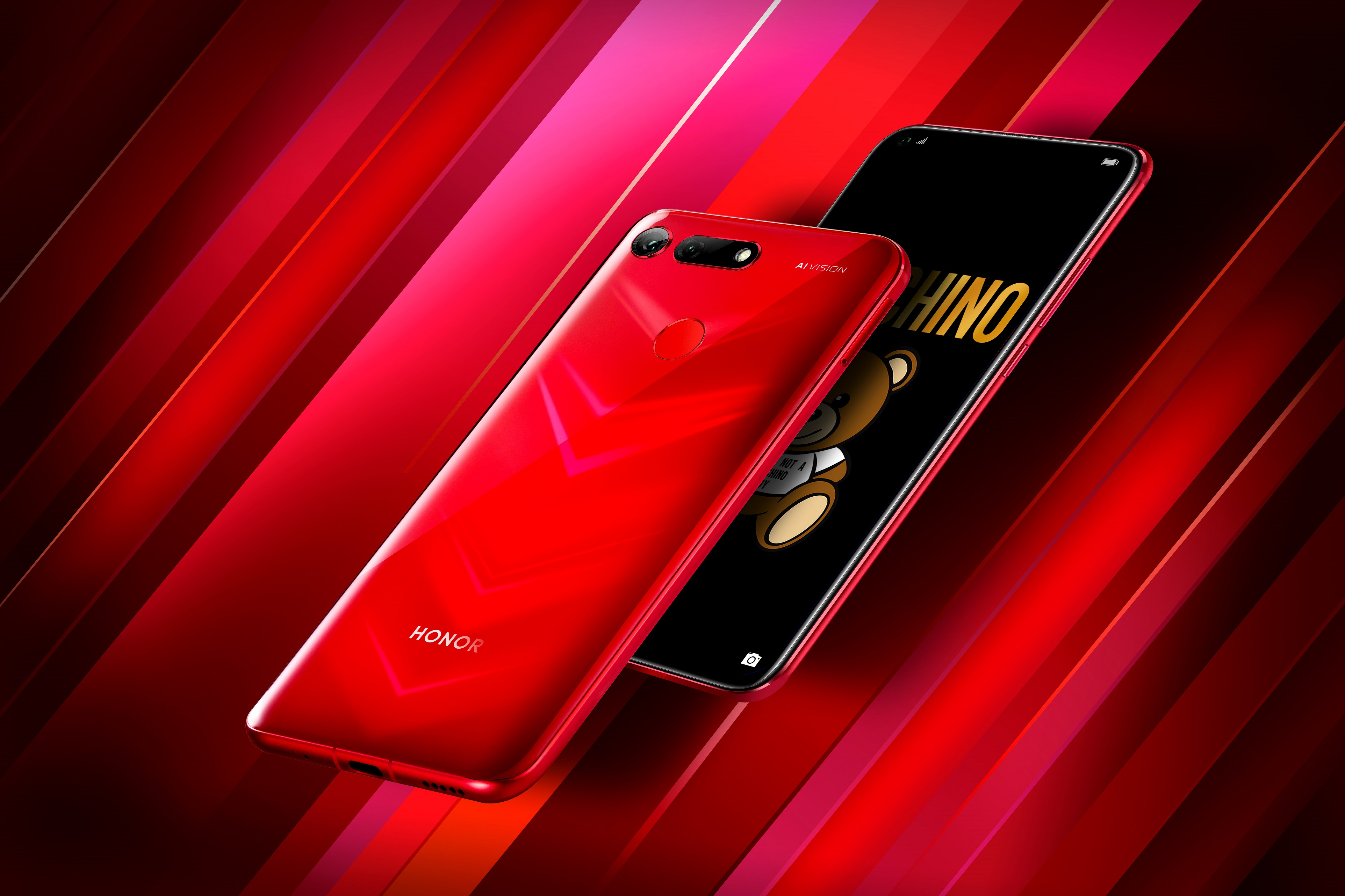 HONOR View20 rouge : 1er smartphone au monde doté d'un appareil photo 48 Mpx