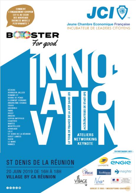 Booster for Good, le tour de France de l'entrepreneuriat à impact positif fait étape à La Réunion le jeudi 20 juin