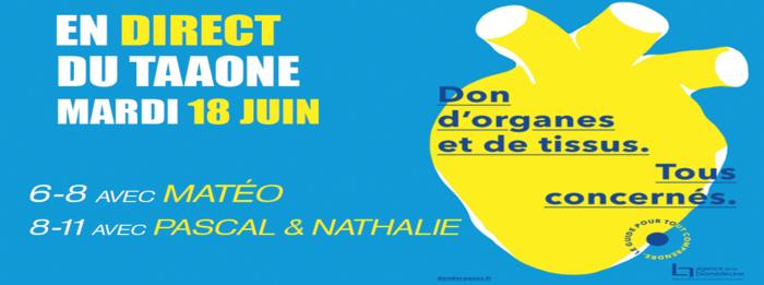 Journée Nationale de Réflexion de Don d'Organes, en direct ce mardi sur Polynésie La 1ère Radio