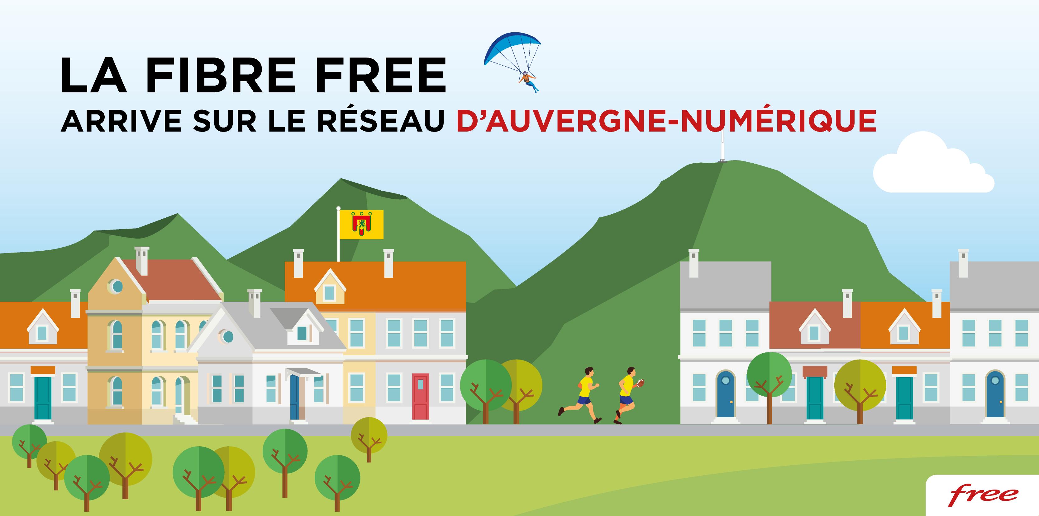 La Fibre Free arrive sur le réseau d'Auvergne-Numérique