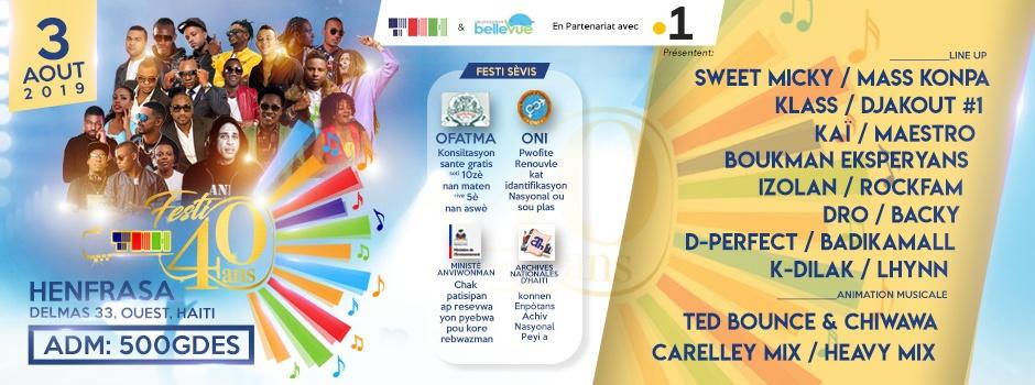 Un concert pour les 40 ans de la Télévision Nationale d'Haïti en partenariat avec La 1ère