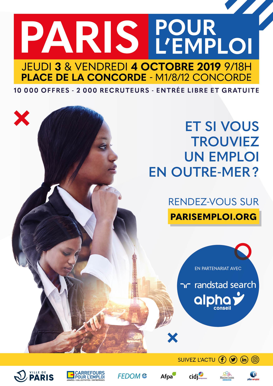 Salon Emploi & Outre-Mer au cœur de Paris pour l'emploi 2019
