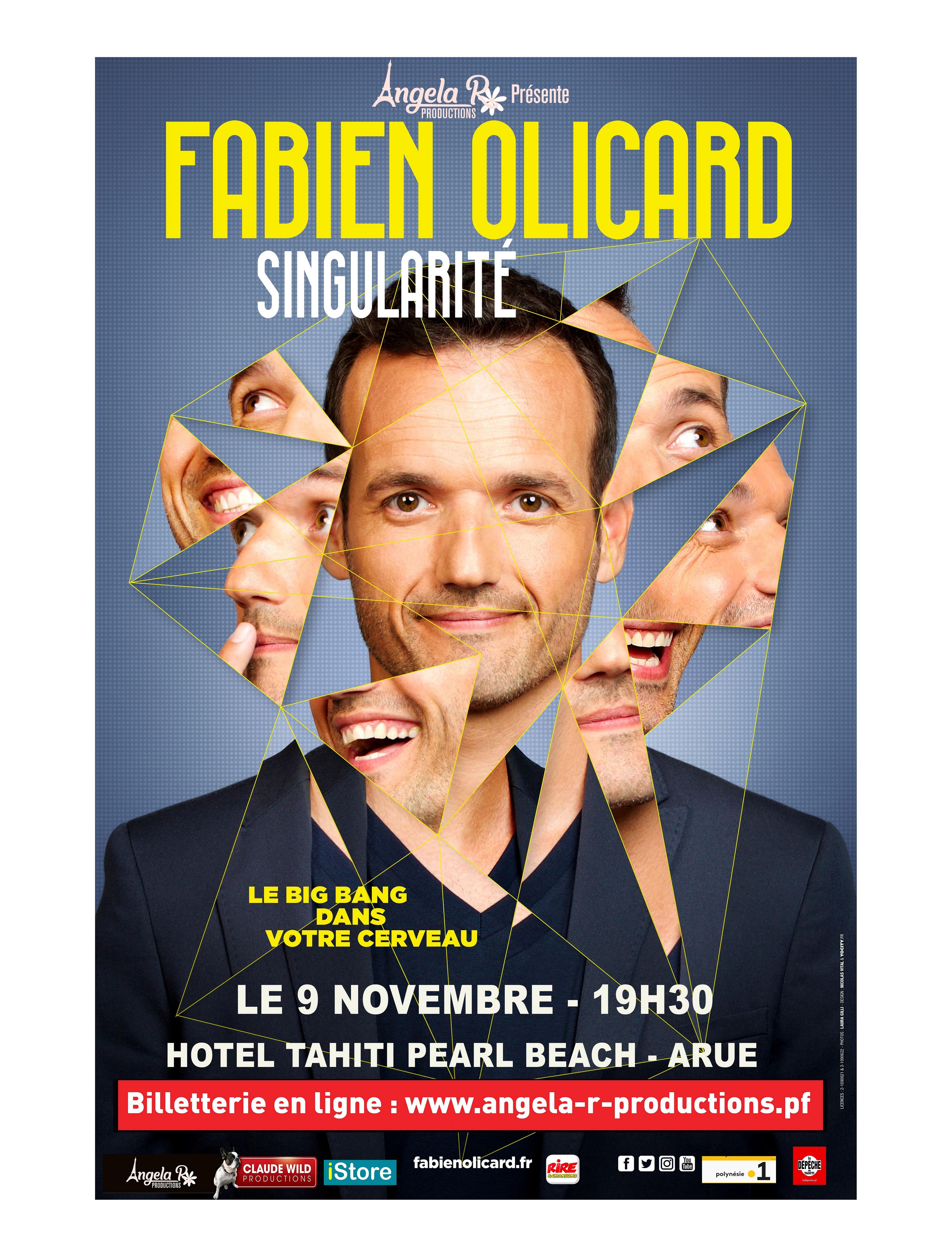 Le Magicien et Mentaliste Fabien Olicard en représentation en Polynésie le 9 novembre