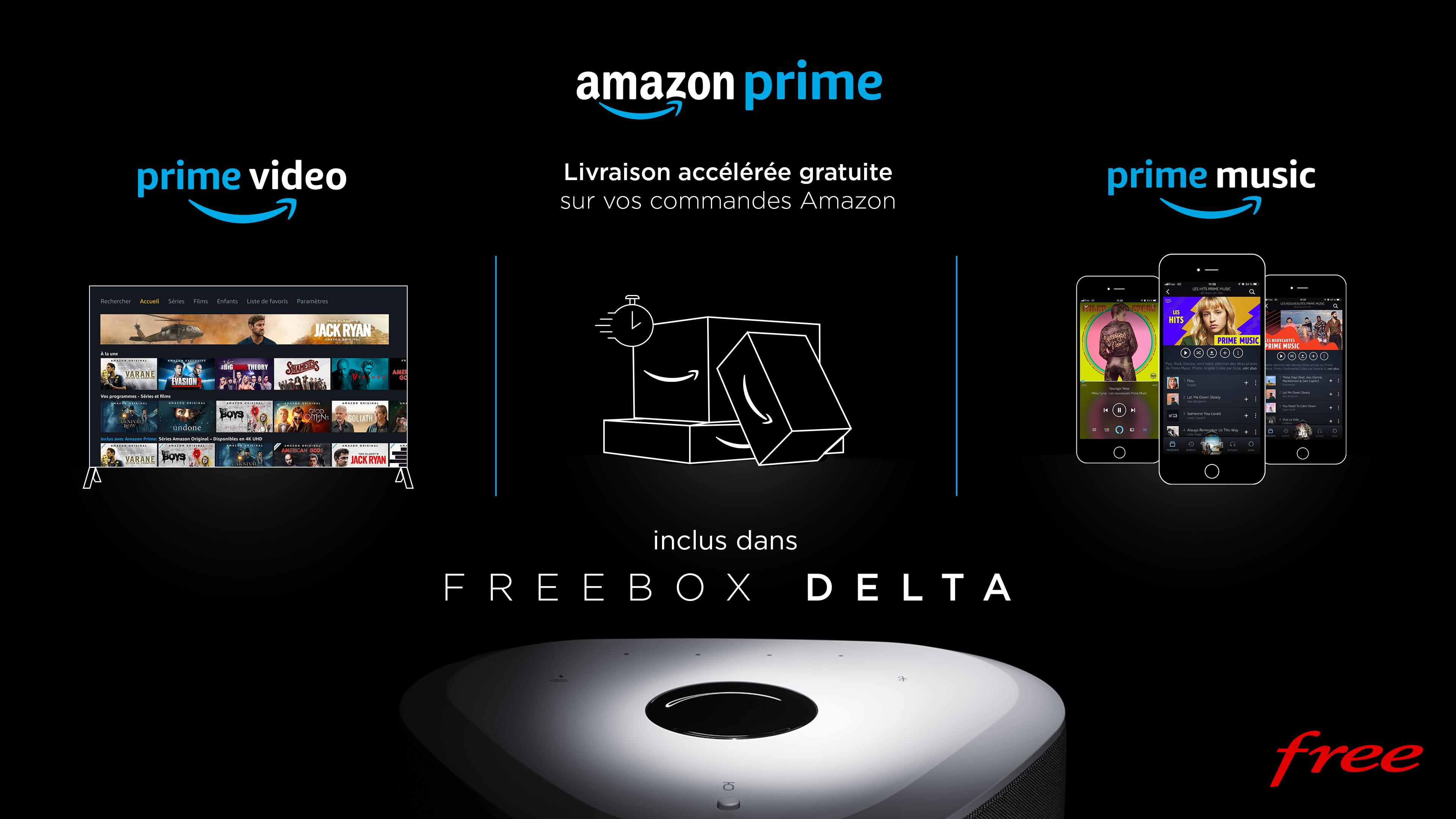 Le Forfait Freebox Delta inclut maintenant Amazon Prime !