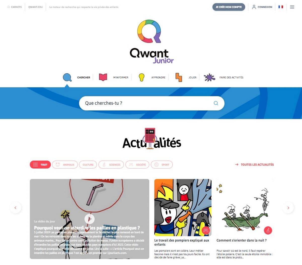 Qwant Junior: Une nouvelle interface pour un web plus sécurisé