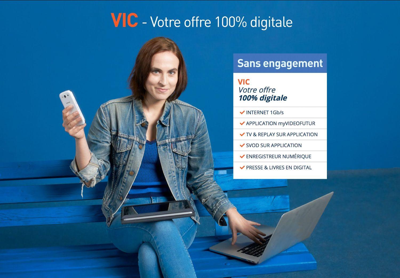 VIDEOFUTUR propose VIC, son offre Fibre multi-écrans, sans engagement