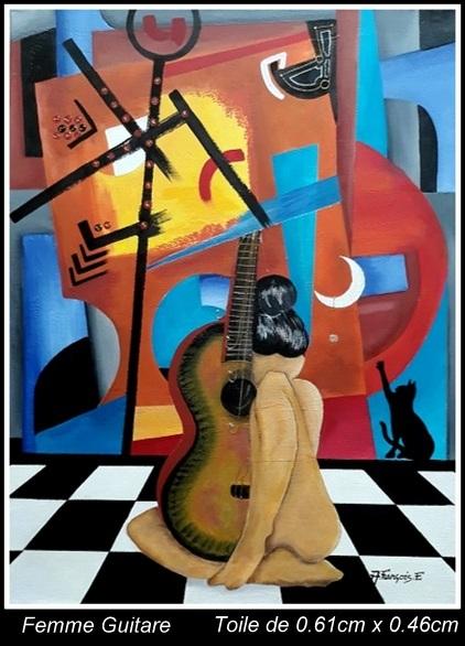 Femme guitare