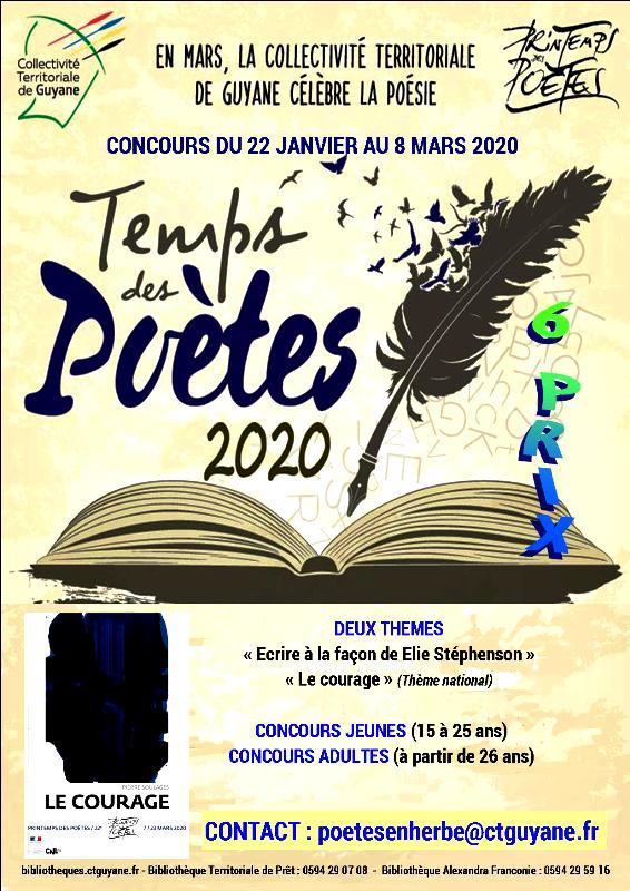 La Collectivité Territoriale de Guyane organise la 3e édition du Concours de Poésie dans le Cadre du « Temps des Poètes »