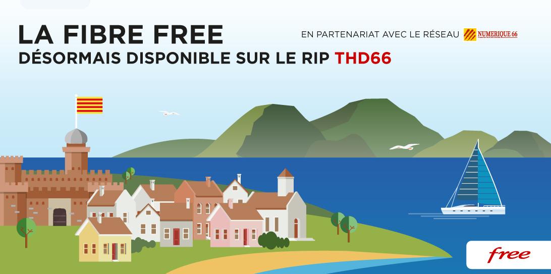 La Fibre Free désormais disponible pour les habitants du département des Pyrénées Orientales desservis par le RIP THD66