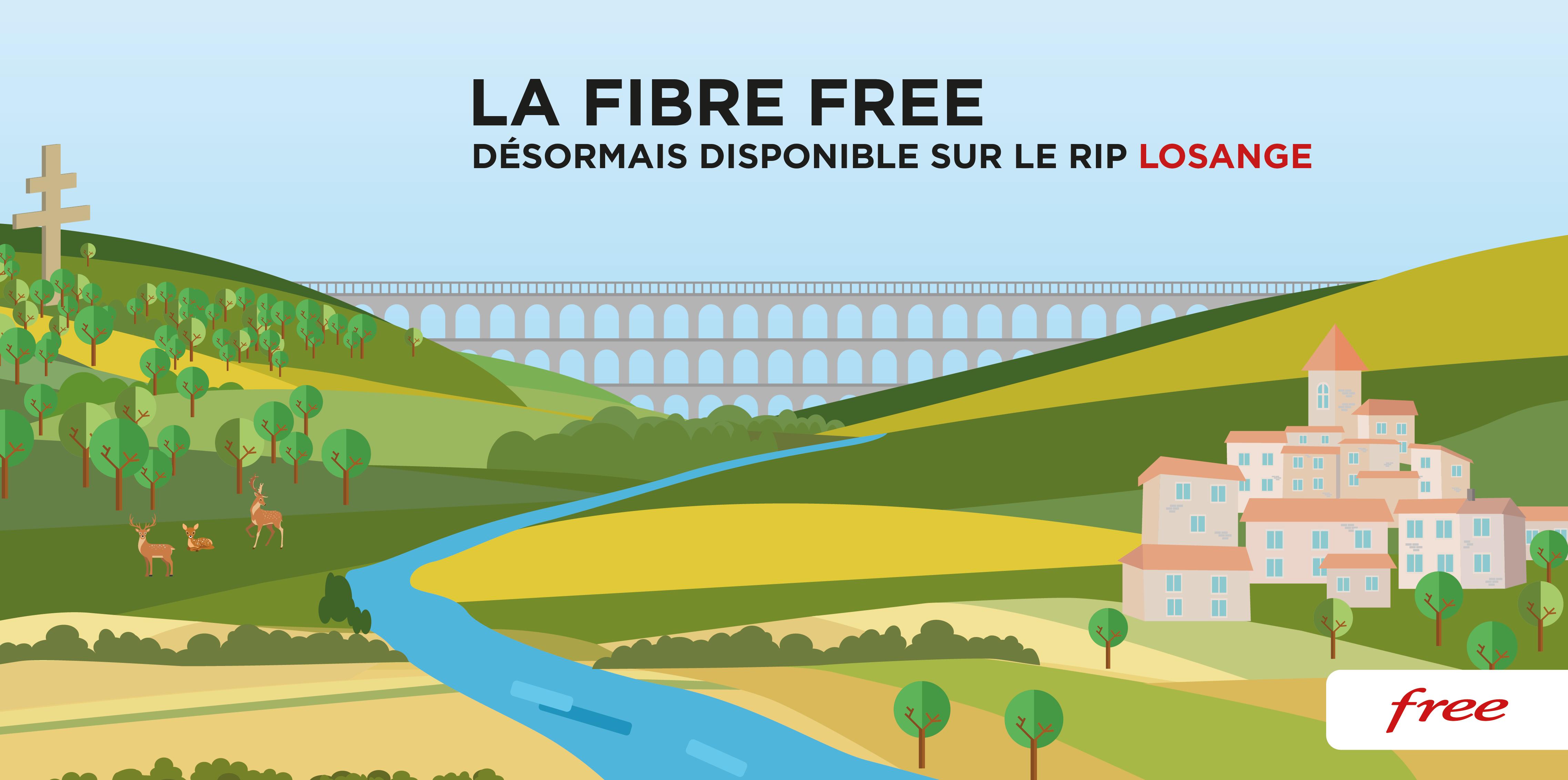 La Fibre Free désormais disponible sur le RIP Losange (région Grand Est)