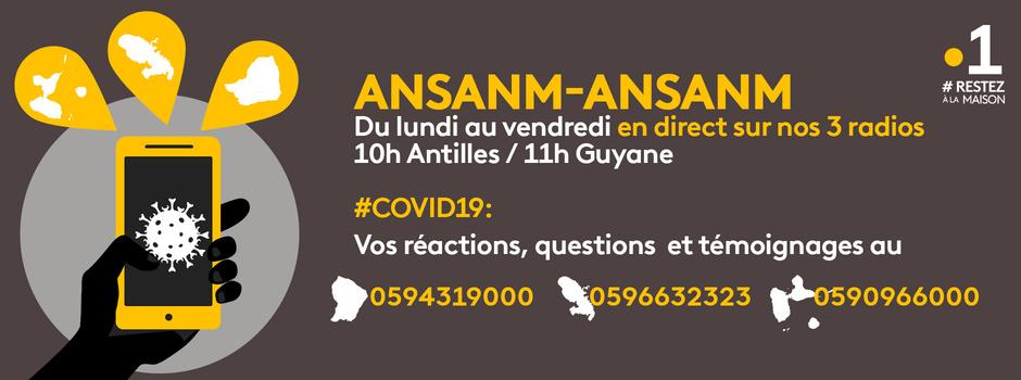 COVID-19: Ansanm-Ansanm, le rendez-vous solidaire des Antilles-Guyane