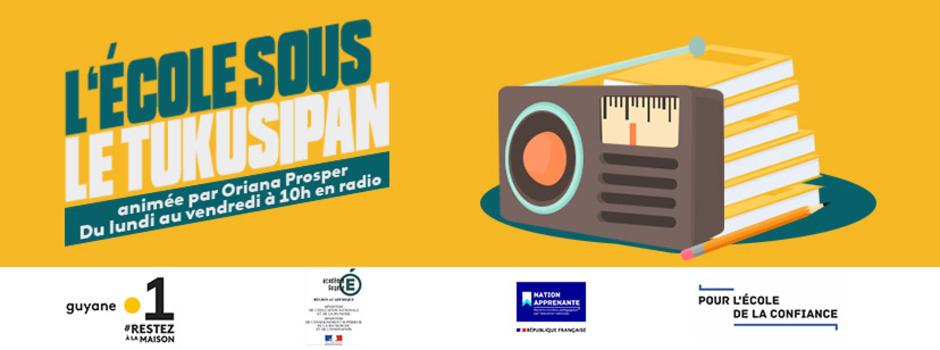 """""""L'école sous le Tukusipan"""" la nouvelle émission éducative débarque dés demain sur Guyane La 1ère Radio en collaboration avec l'Académie de la Guyane"""