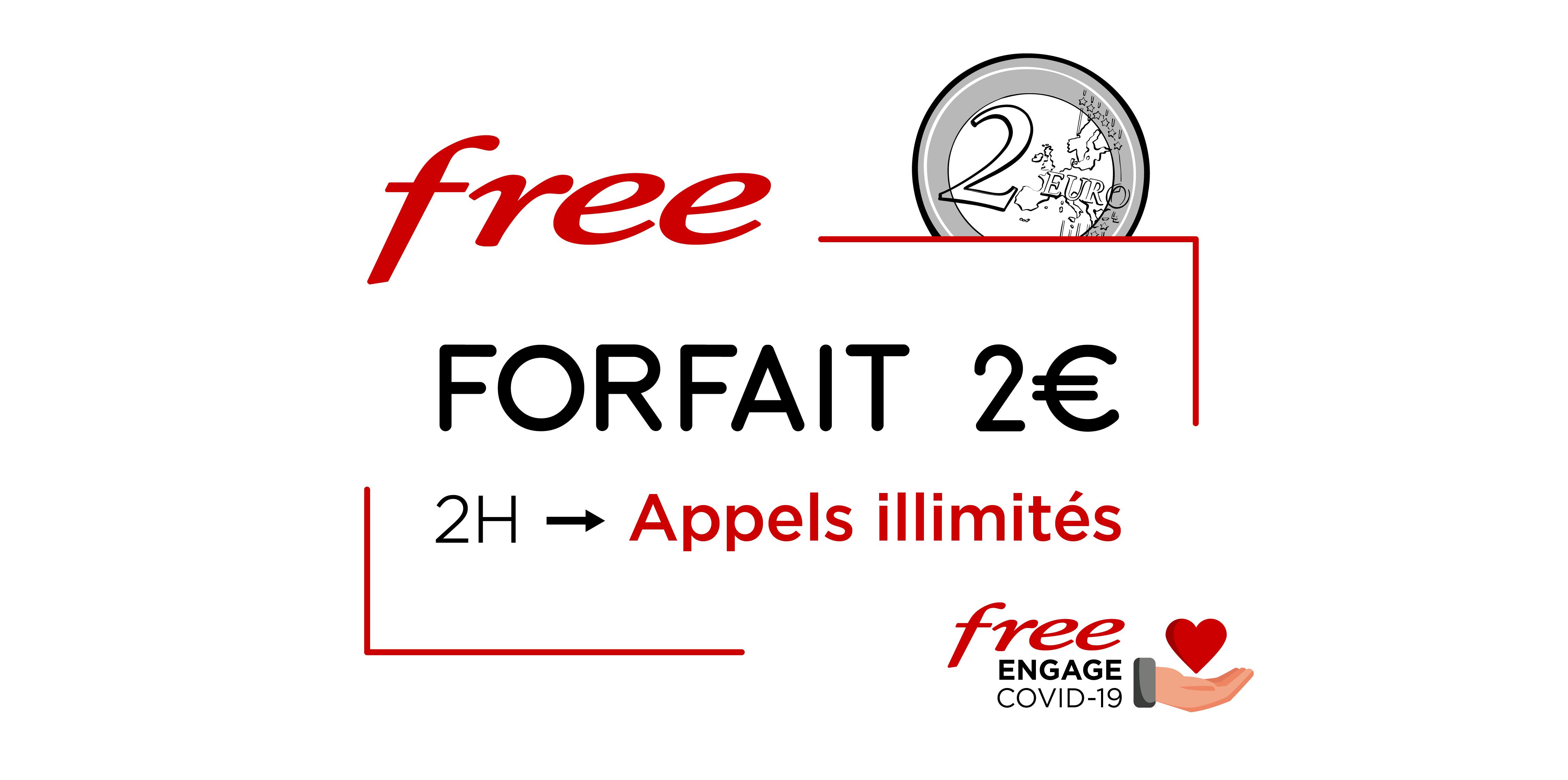 Forfait mobile 2€/0€ : Free inclut les appels illimités jusqu'au 11 juin