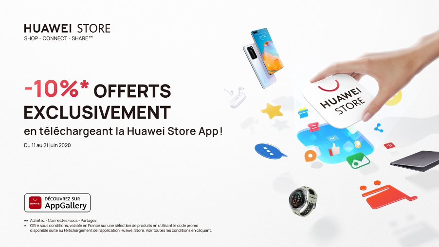 L'application Huawei Store: La nouvelle boutique officielle en ligne