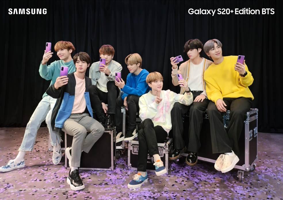 Samsung dévoile l'édition limitée au couleur du groupe K-Pop, BTS des Galaxy S20+ et Galaxy Buds+