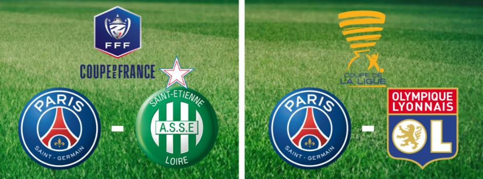Finales de la Coupe de la Ligue et de la Coupe de France, en direct sur les chaînes La 1ère et France 2