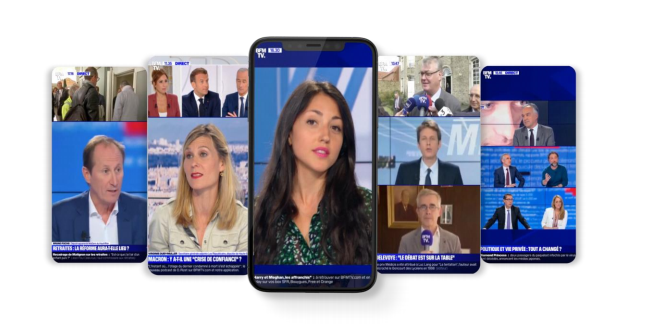 BFMTV désormais à la verticale sur smartphone