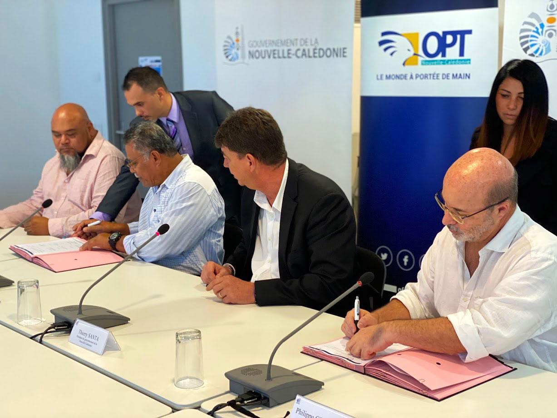 Nouvelle-Calédonie: Renforcement du partenariat numérique entre l'OPT et le SPT-WF