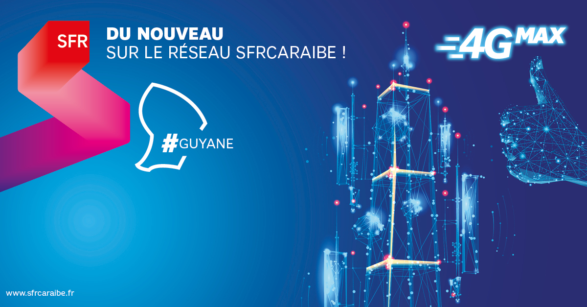 Guyane: SFR couvre en 4G la RN1 entre Kourou et Sinnamary