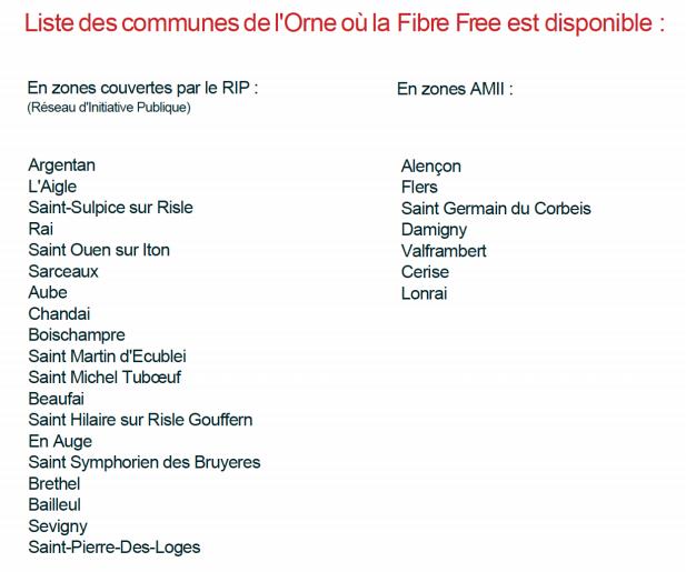 Free renforce sa présence dans l'Orne avec son arrivée sur le Réseau d'Initiative Publique (RIP) d'Orne Département Très Haut Débit