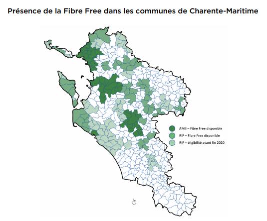 La Fibre Free désormais disponible sur le réseau d'initiative publique (RIP) Charente-Maritime THD