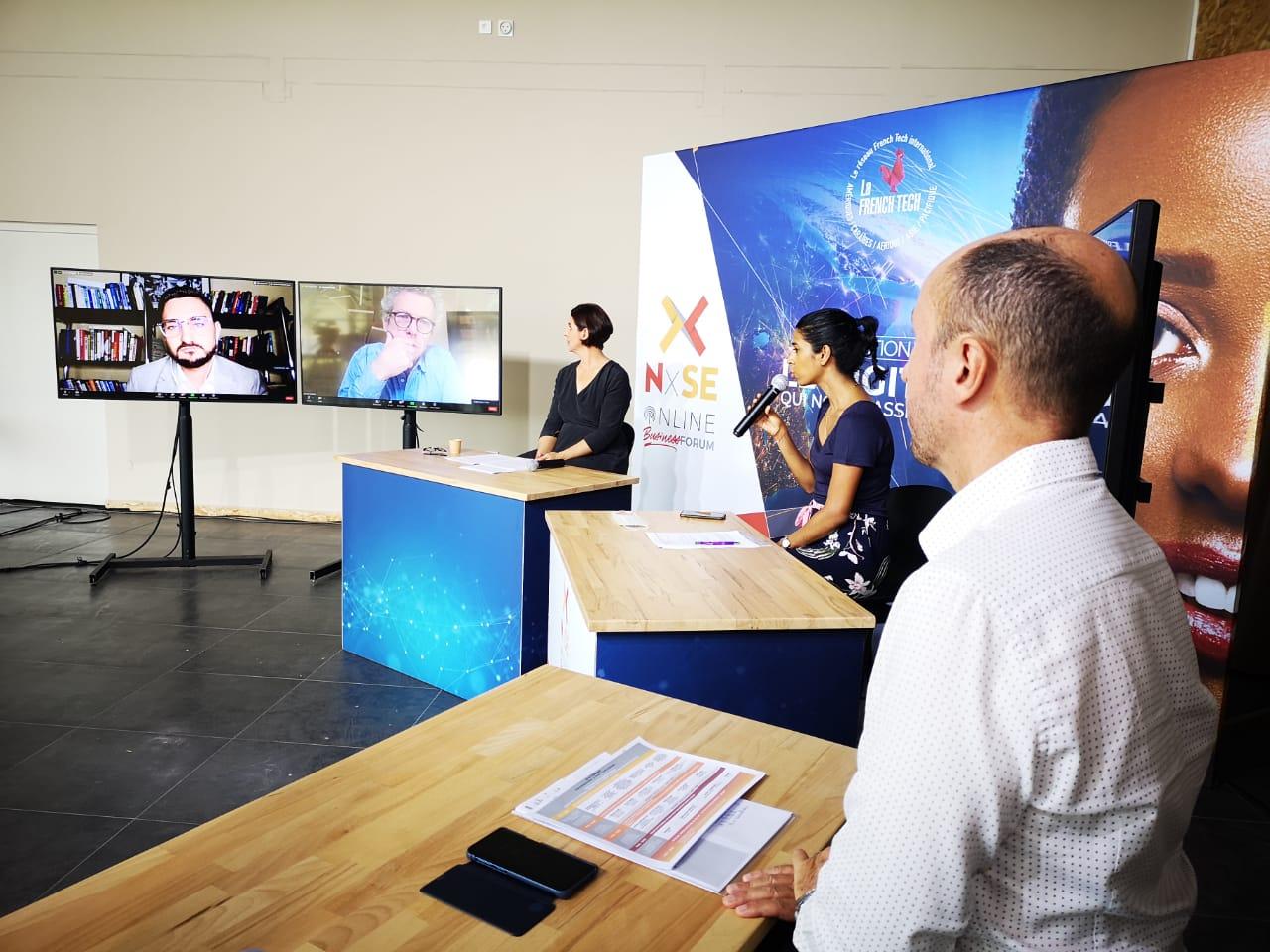 Plateau web TV NxSE - Conférence en live - Crédit Photo Stéphane Tariffe