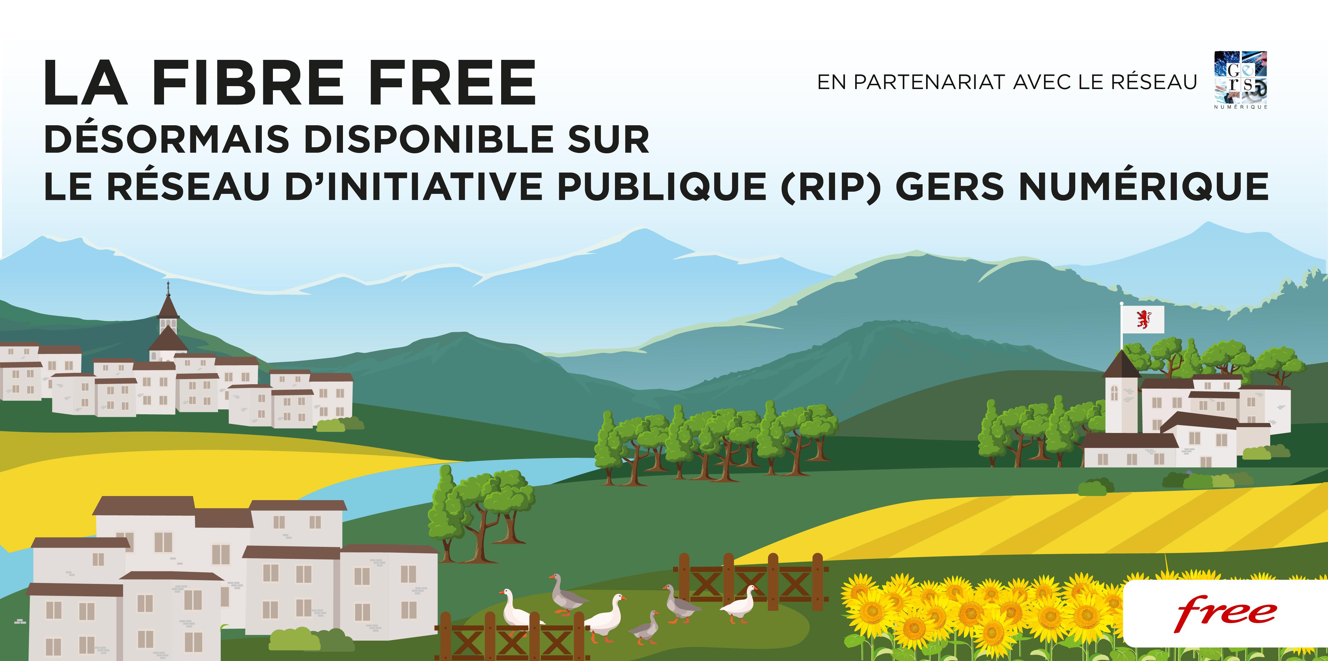 La Fibre Free désormais disponible sur le Réseau d'initiative Publique (RIP) Gers Numérique