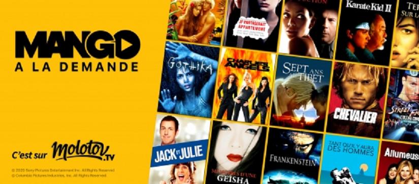 Molotov signe avec Sony Pictures pour Mango, sa nouvelle offre de VOD gratuite