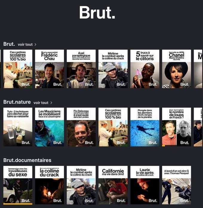 Brut. arrive sur Molotov