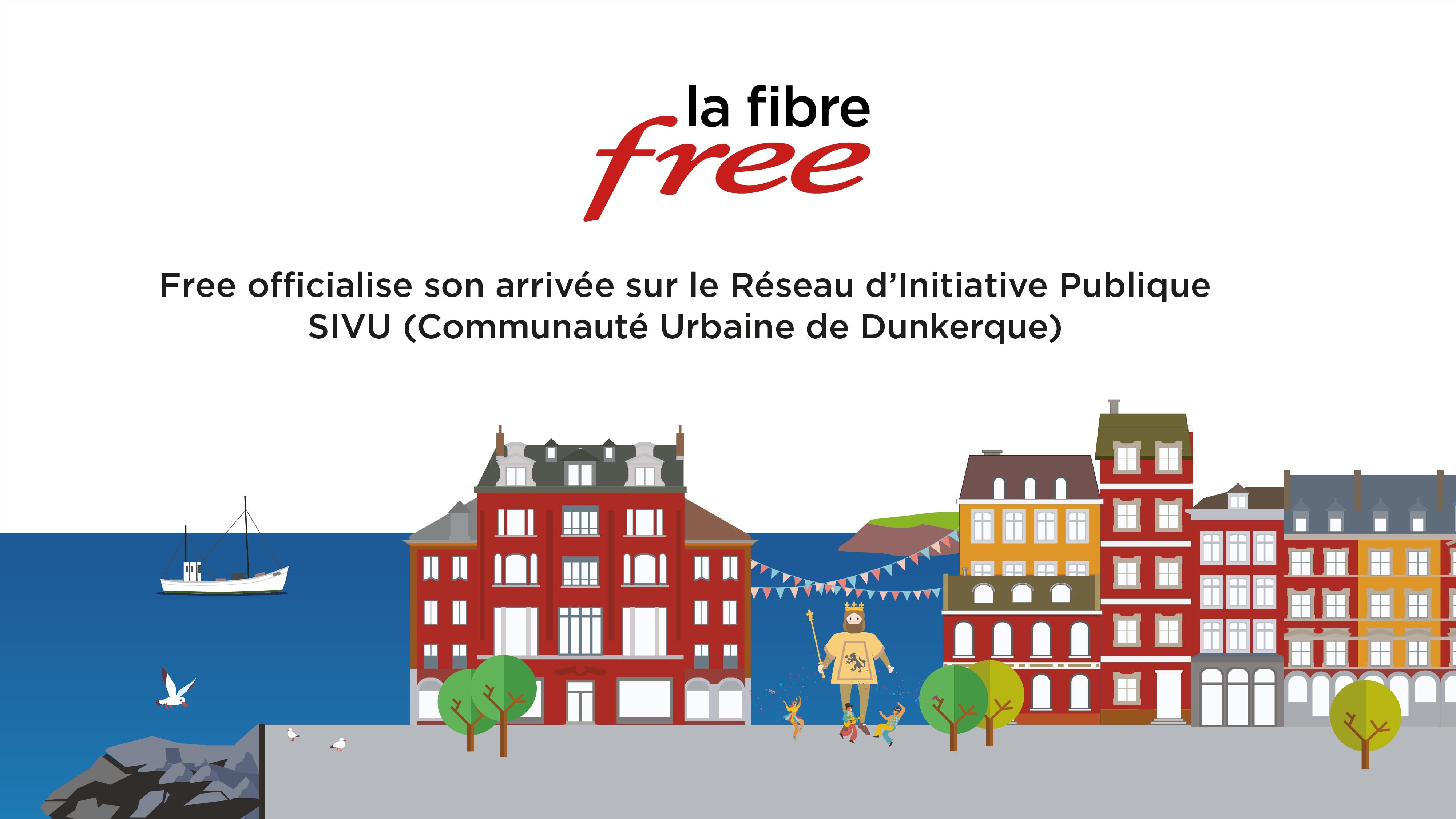 Free officialise son arrivée sur le Réseau d'Initiative Publique SIVU (Communauté urbaine de Dunkerque)