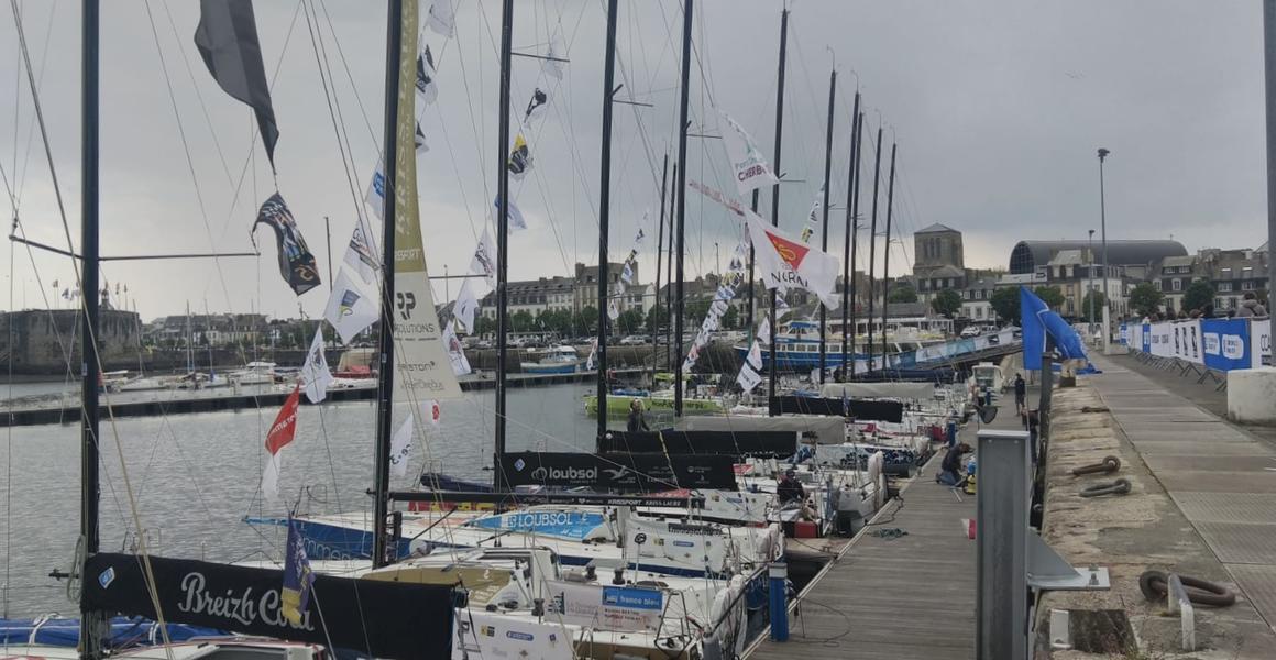 """Tous les """"Figaro Béneteau 3 """" sont à quai à Concarneau, pour le départ ce dimanche 9 Mai"""